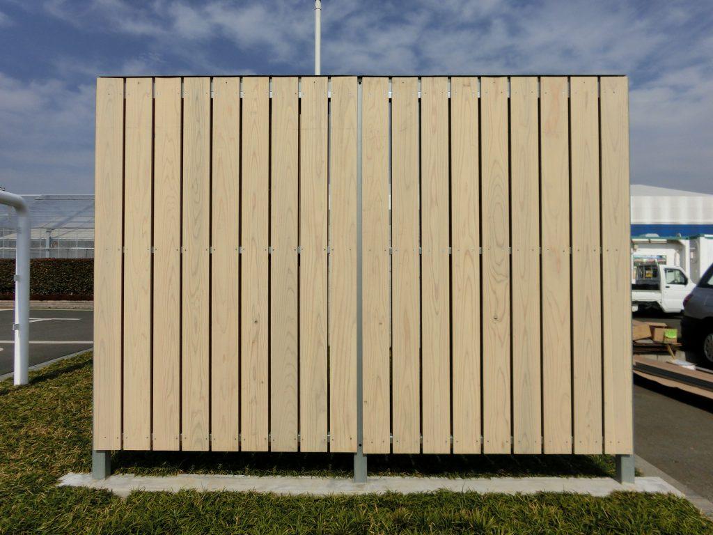 CFSを使用した「プレミアム木塀」(安全・安心な塀の開発研究会)